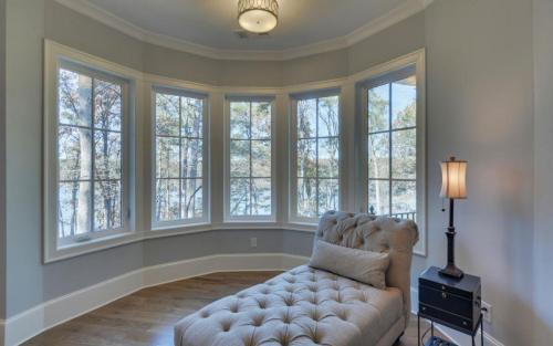 Custom Built Lake Home | Master Bedroom and Sitting Area | Gainesville Georgia Home Builder