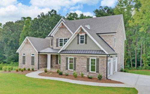 Traditional in The Retreat Exterior (Custom Home Builder Gainesville Georgia) (2)